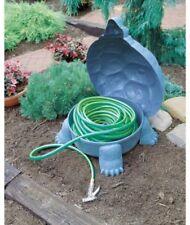 Turtle Tortoise Figurine Statue Garden Hose Storage ~ Hinged Lid, Durable Resin