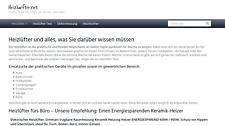Heizluefter.net - Webprojekt / Webseite / Affiliate Nischenseite -Geld verdienen