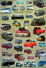 """AUTOS """"VOLKSWAGEN VICTORIA VANS"""" POSTER - German VW Bus Transporter, Eurovan"""