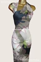New KAREN MILLEN Blossom Floral Print BNWT £160 Pencil Evening Party Club Dress