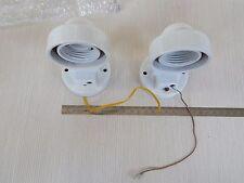coppia di Applique lampada da parete in ceramica originali dell'epoca fondi di m