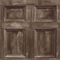 Fine Decor Wood Panel Dark Brown Realistic Door Wooden Wallpaper