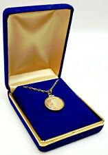 1986 Star Trek Mr Spock 1/10 Oz Solid Silver Medallion/Necklace- Display Box