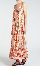 Somerset By Alice Temperley Size 10 Orange Deco Print Maxi Dress Summer