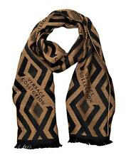 Versace Collection Men's Geometric Block Pattern Wool Scarf