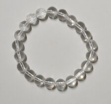 Bracelet Cristal de roche bille 8 mm - Natural White quartz bead bracelet