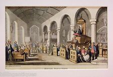 ENGRAVING DR.SYNTAX  ROWLANDSON  DR.SYNTAX PREACHING IN CHURCH ACKERMANS 1813