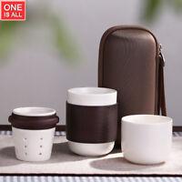 Japanese Teapot Ceramic Portable Travel Tea Set Coffee Mug Travel Bag Anti-hot