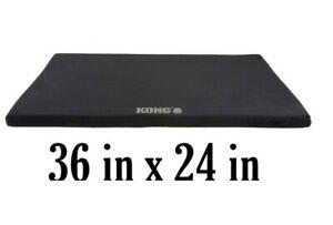 "Kong ORTHOPEDIC Dog Crate Mat - 36""x24"" BLACK Plush Machine Wash (3ftx2ft)"