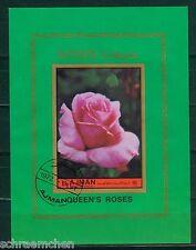 Ajman Block 453 B , o , Motiv Blumen - Rosen
