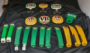 VB Beer Tap Badges & Handle Hotel Grade Victoria Bitter Barware
