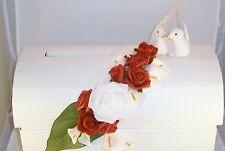 Briefbox Kartenbox Truhe Geschenk Geschenkverpackung Hochzeit Tauben rot weiß