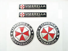 4pcs metal car umbrella corporation Aluminum 3D inside and outside stickers