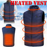 Men Electric USB Heated Vest Coat Jacket Warm Up Heating Pad Cloth Body Warmer