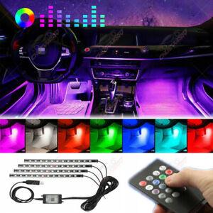 For Jeep Ram BMW Autos RGB music USB Control LED Interior Atmosphere Light lamp