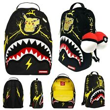 Sprayground Pikachu Shark Backpack/Laptop Bag Pokemon Limited Edition Merch