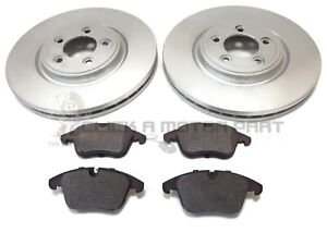 FOR JAGUAR XF 2.7D 3.0 3.0D 2008-2014 FRONT 2 BRAKE DISCS AND PADS (CHECK SIZE)