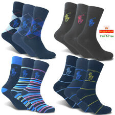 POLO Ralph Lauren Mens Gents Dress Ankle Calf Socks Crew Work Thin Adults 6-11