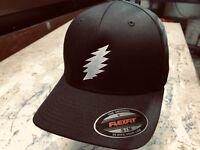"""Grateful Dead SYF 'Bolt"""" Embroidered Flexfit Ball Cap Black, Navy or Olive"""