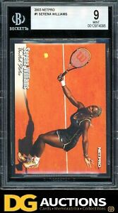 2003 Netpro Serena Williams Rookie BGS 9 a