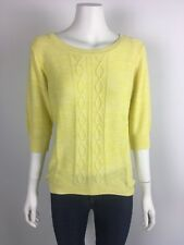 NEW ELM size 12 knitted jumper sorbet lemoncello knit RRP $100