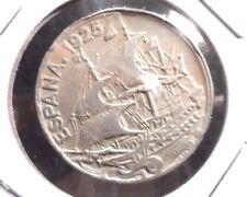 CIRCULATED 1925 25 CENTIMOS SPANISH COIN! (120915)