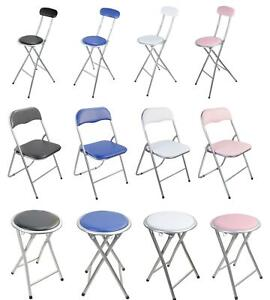 BREAKFAST BAR STOOL FOLDING FOLDABLE PADDED CHAIR SEAT GARDEN PARTY OFFICE EVENT