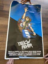 Hook Ups Skateboard Poster Yellow Fever, Used 1990's Jeremy Klein Blitz