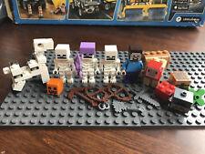 Minecraft Lego Minifigures Skeleton Attack LOT 21146 Horseman Sheep Minifigure