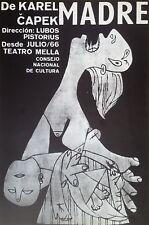 Cuban Art.Print of a poster by Consejo de Cultura.Madre,1966.Excellent condition