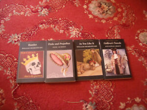 WORDSWORTH CLASSICS SET OF 4 BOOKS GULLIVER'S TRAVELS, AS YOU LIKE IT, HAMLET, P