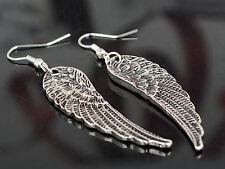 Fashion Womens Rhinestone Angel Wings Earrings Silver Ear Drop Dangle New