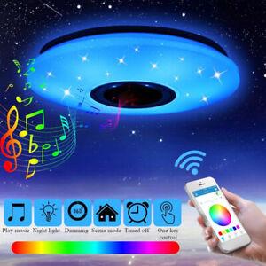 Plafoniera a Soffitto LED Lampada Telecomando Bluetooth Altoparlante Dimmerabile