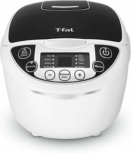 T-fal RK705851 10-In-1 Rice and Multicooker - 10 Pre-Set, Timer, 10-Cup, White