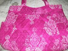 VERA BRADLEY PLEATED TOTE IN STAMPED PAISLEY **NWT