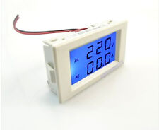 2 In1 AC 300V 50A Dual Panel Volt Amp Combo Meter +CT Blue Lcd Need No Power