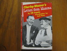 """CLIFF ARQUETTE/CHARLEY  WEAVER  Signed  Book(""""LETTERS FROM MAMMA""""-1959  Edition)"""