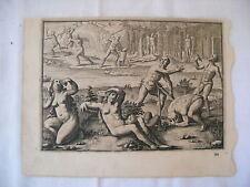 Théodore de BRY - [Petits Voyages] - Gravure - Suicide collectif
