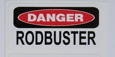 3 - Danger Rodbuster Hard Hat Rebar Union Concrete Tool Box Helmet Sticker H100