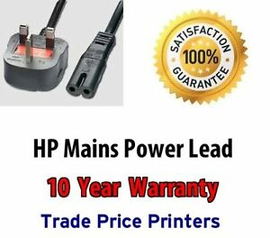 UK Mains Power Lead Cable Cord For HP Officejet Printer Select Model In Advert