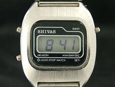 Vintage Shivas LCD Quartz Chronograph Watch Retro NOS