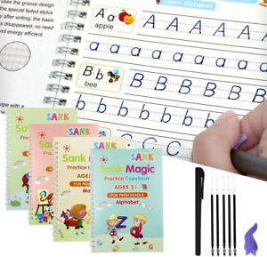 4 Kids Magic Handwriting Copybook Reused Groove Practice Calligraphy Book Number