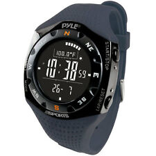 NEW Pyle PSKIW25BL Ski Watch w/ Max. 20 Ski Logbook  Weather Forecast  Altimeter