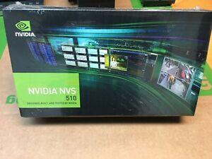 (New in Box) NVIDIA NVS 510 2GB GDDR3 4-Mini DisplayPort PCI-Express Video Card