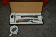 Sunbeam Model EK Electric Slicing Knife & Fork Set w/ Wall Mount & Case VG COND