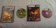 Xbox 360 Puss in Boots ( Kinect required)  / Xbox 360 viva pinata games