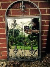 vintage garden Mirror Antique shabby Home Indoor Outdoor Wall Art arc large