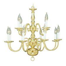 Livex Lighting Williamsburg Chandelier in Polished Brass - 5012-02