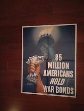 85 Million Americans Hold War Bonds (Original WWII Poster) Very Rare!