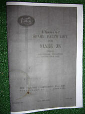 VILLIERS MARK 3K 2-STROKE 50cc ENGINE ILLUSTRATED SPARE PARTS BOOK MANUAL '58